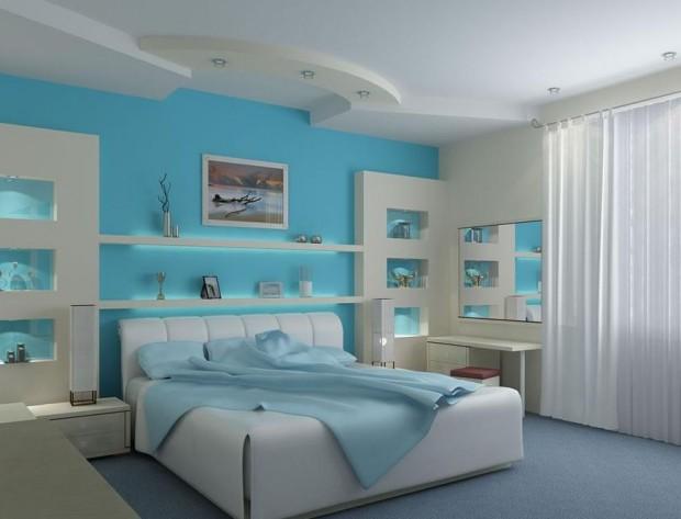 Интерьер спальной комнаты в романтическом стиле 7