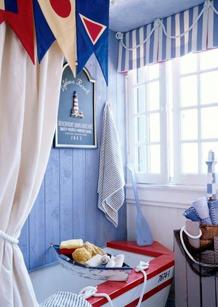 Морские мотивы в интерьере ванной комнаты 2