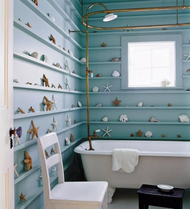 Морские мотивы в интерьере ванной комнаты 4