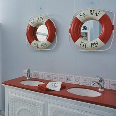 Морские мотивы в интерьере ванной комнаты 5