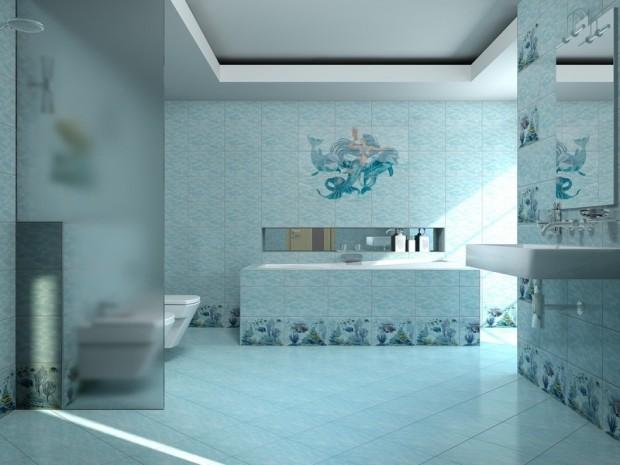 Морские мотивы в интерьере ванной комнаты 6