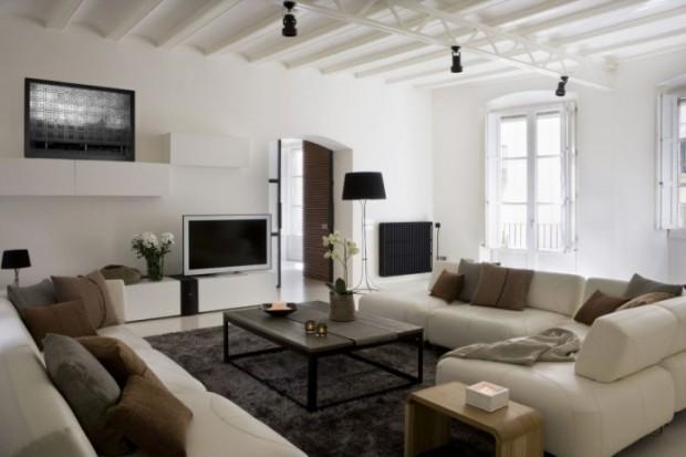 Интересный дизайн квартиры в Барселоне