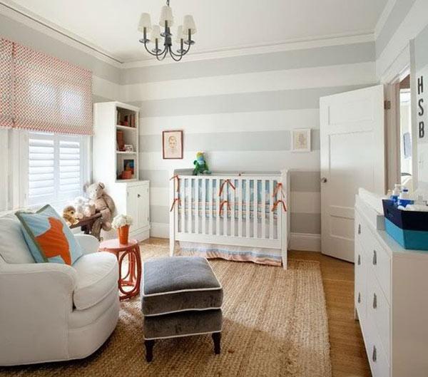 Детская комната в серую полоску