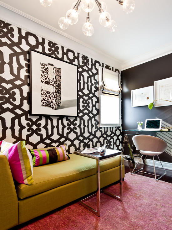 На фото: насыщенный дизайн в черно-зеленый тонах