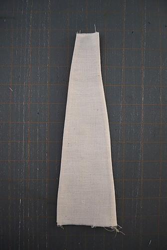 Клинья из однотонной ткани