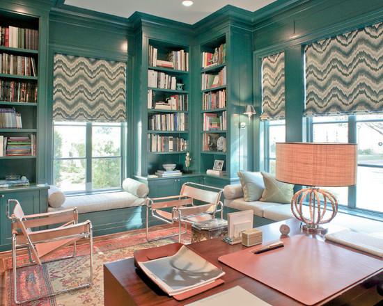 На фото: классический дизайн в спокойном голубом тоне