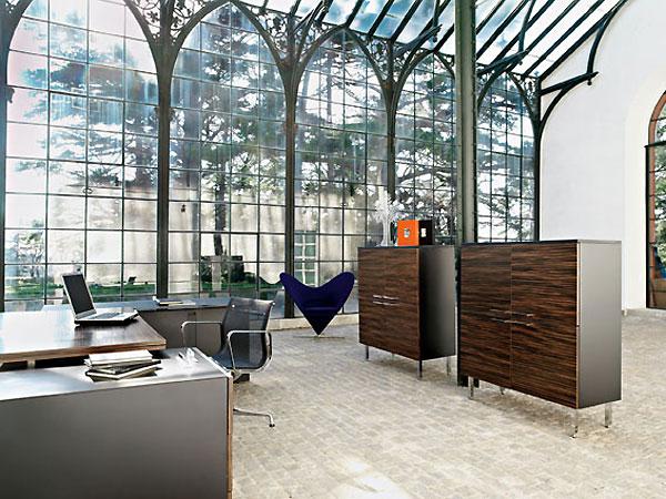 На фото: дизайн кабинета в квартире 4