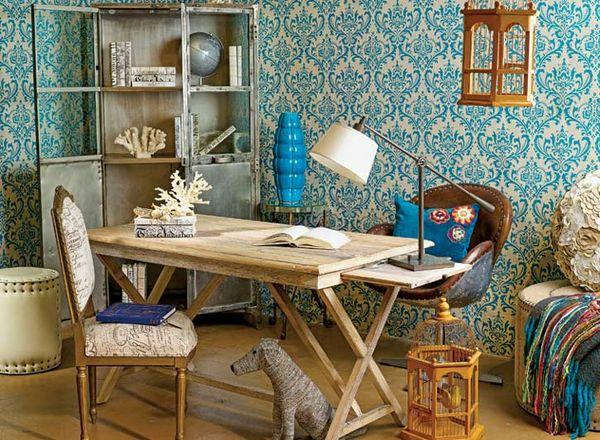 На фото: дизайн кабинета в квартире 5