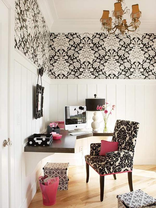 На фото: дизайн кабинета в квартире 7