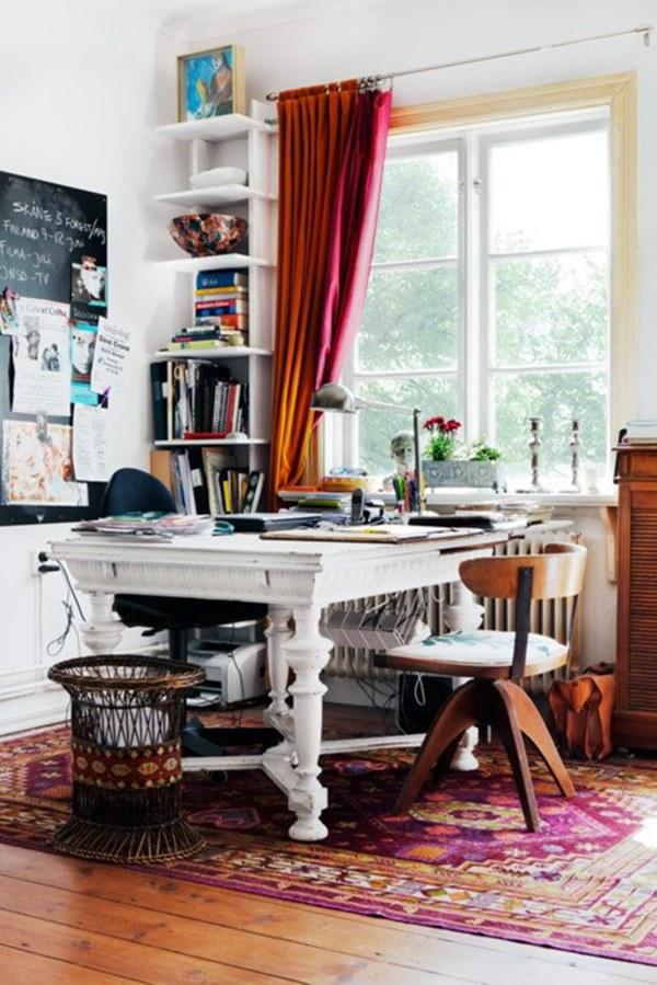 На фото: дизайн кабинета в квартире 8
