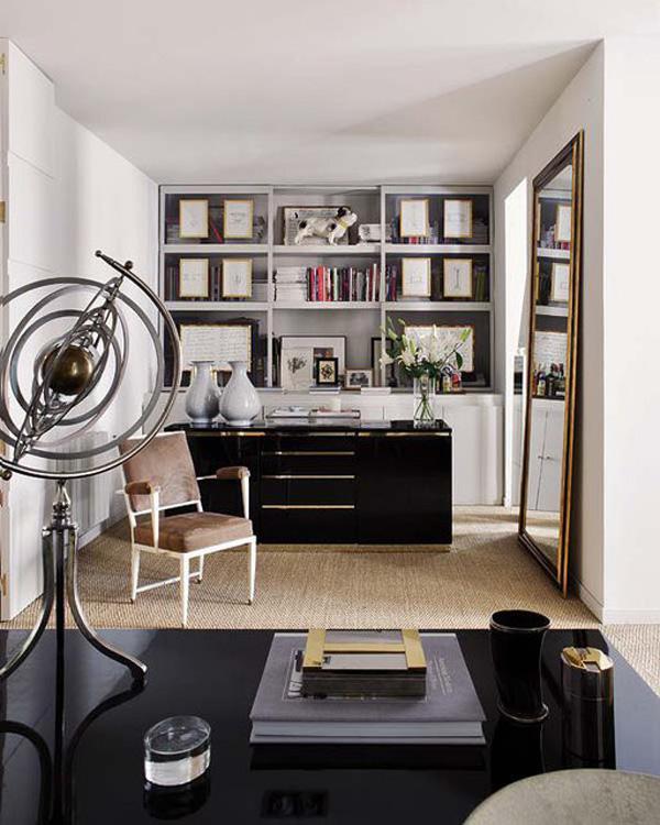 На фото: дизайн кабинета в квартире 10