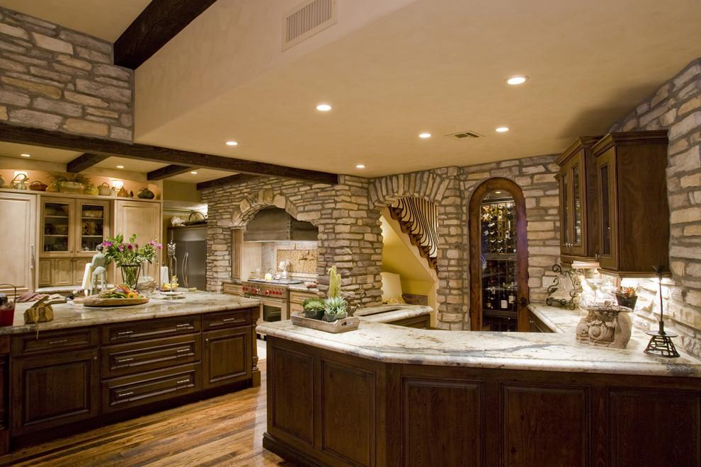 Коттеджи фото интерьер кухни