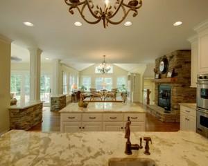 Каменные столешницы в интерьере кухни