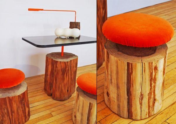 Мебель из пеньков
