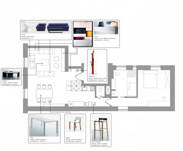 Интерьер маленькой квартиры 13