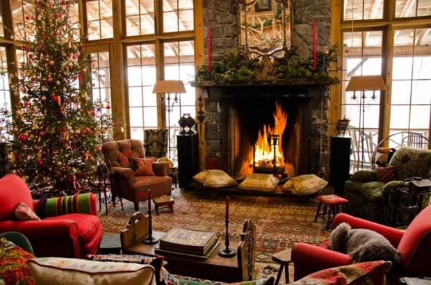 Дом Аманды Брукс перед Рождеством