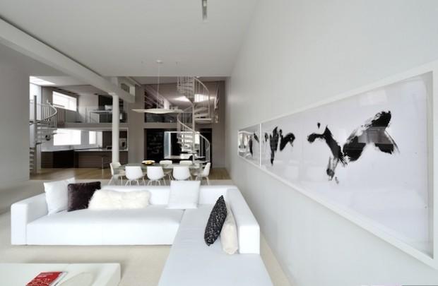 Бело-черный интерьер 10