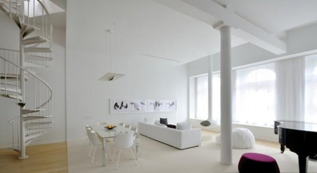 Бело-черный интерьер 4