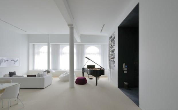 Бело-черный интерьер 5