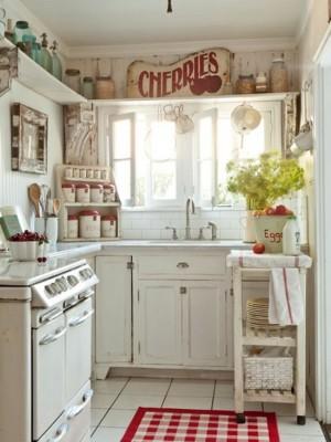 Ретро стиль в оформлении маленькой кухни