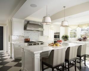 Классическая кухня в белых тонах