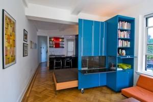 Разделение квартиры мебелью на несколько комнат