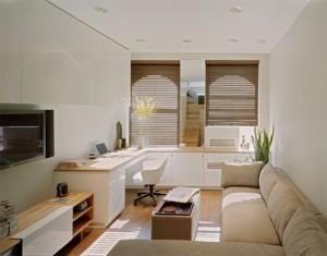 Спокойный дизайн интерьера в маленькой квартире