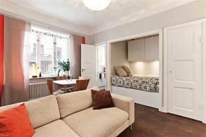 Дизайн интерьера малогабаритной квартиры в спокойных тонах