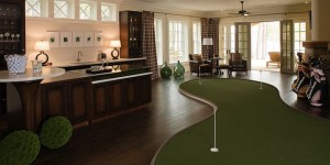 Интерьер комнаты с мини гольфом