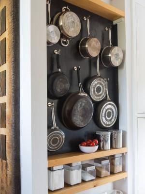 Подвесная посуда на кухне