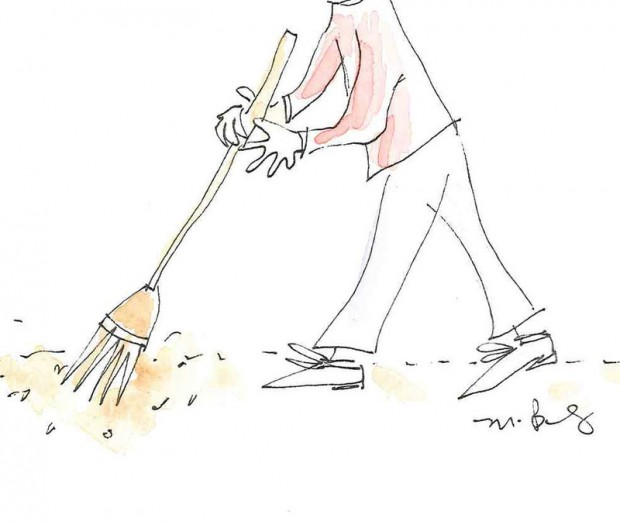 Иллюстрация уборки пола