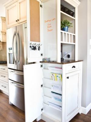 Скрытые боковые кухонные шкафы для мелочевки