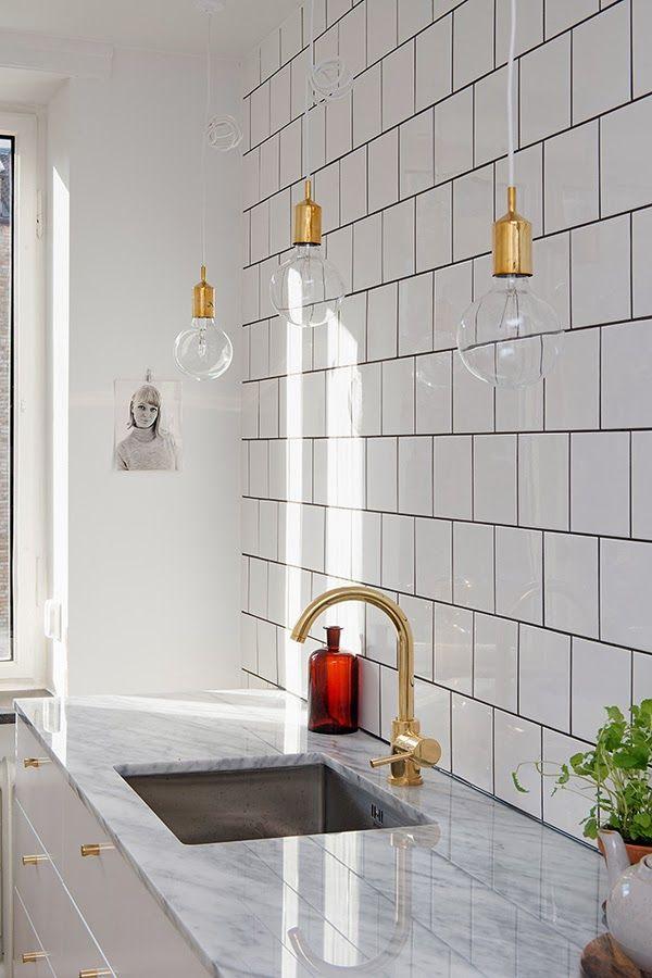Позолоченный кухонный кран