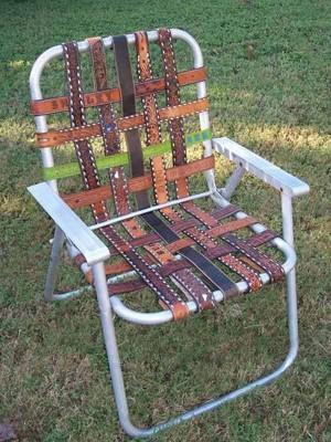 Обшивка стула из ремня