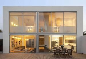 Архитектура небольшой виллы в стиле минимализм