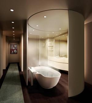Роскошная ванная комната в стиле хай-тек