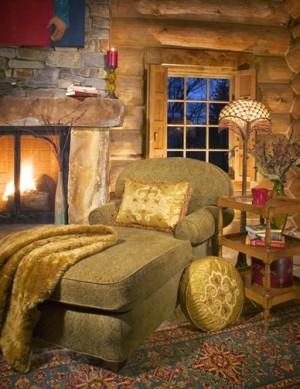 Место для отдыха у камина