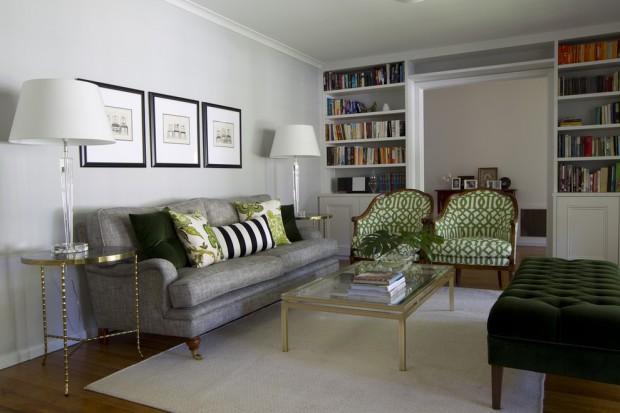 Серо-зелёная гостиная