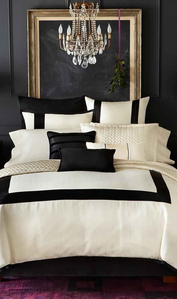 Дизайн золотой спальни в стили Арт-деко