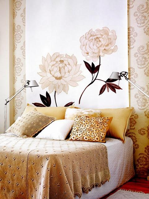 Восточный стиль золотой спальни