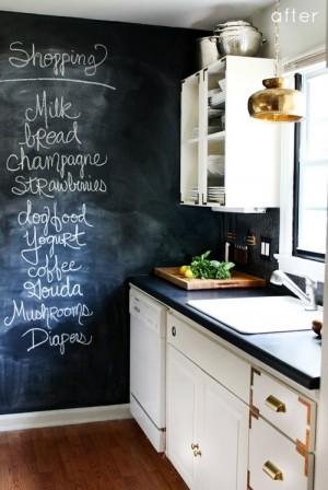 Декор кухни с доской для мела