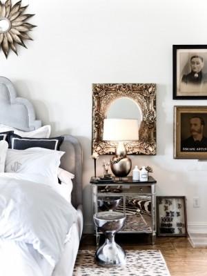 Модерн с использованием золота в спальни