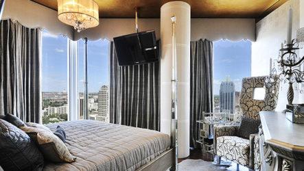 Золотая спальня, интерьер роскоши и гламура
