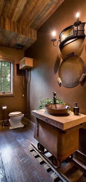 Креативная ванная комната в Баварском стиле