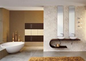 Роскошная ванная комната в стиле минимализм