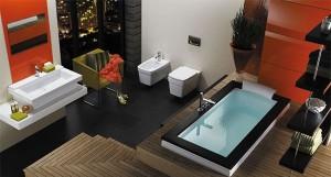 Интерьер ванной комнаты в стиле модерн (2)