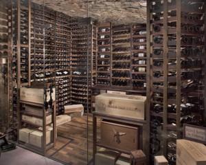 Хранилище вина в деревенском стиле