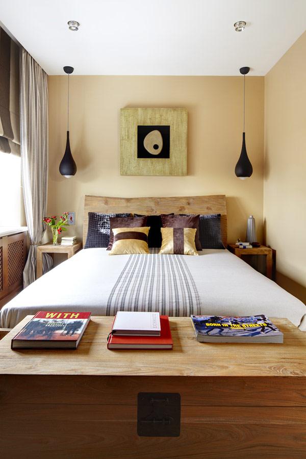 Небольшая спальня в восточном стиле