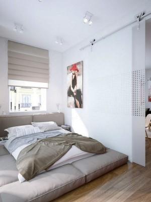 Небольшая спальня в стиле минимализм