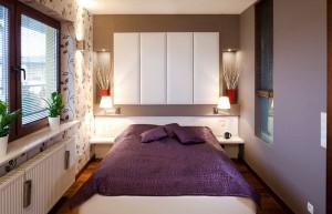 Небольшая спальня оформленная в стиле модерн